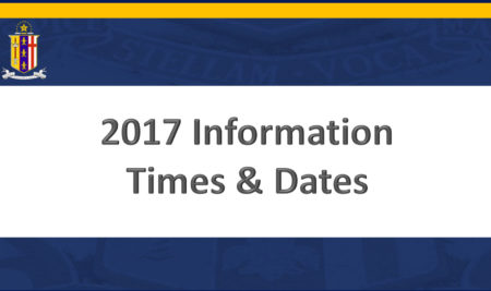 2017 Starting Dates and Times