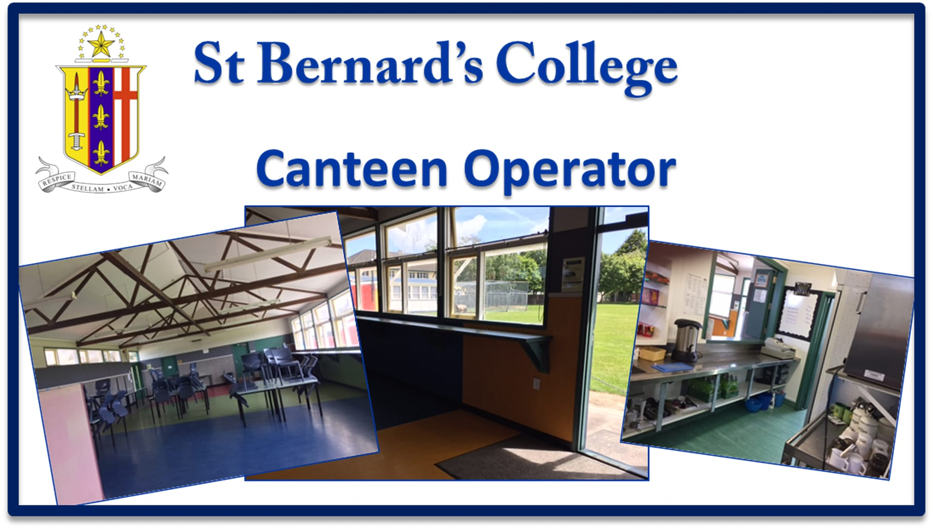 school canteen operators School and the canteen operator before the operator commences operating the canteen at the school 43 in cases where the canteen operator is a registered business .