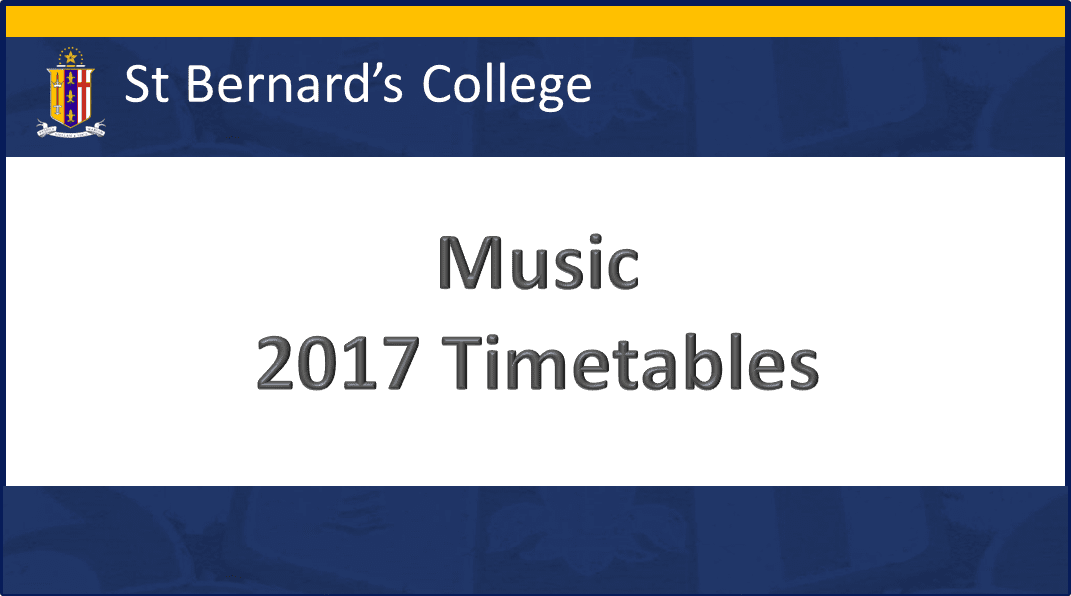 Music Timetables