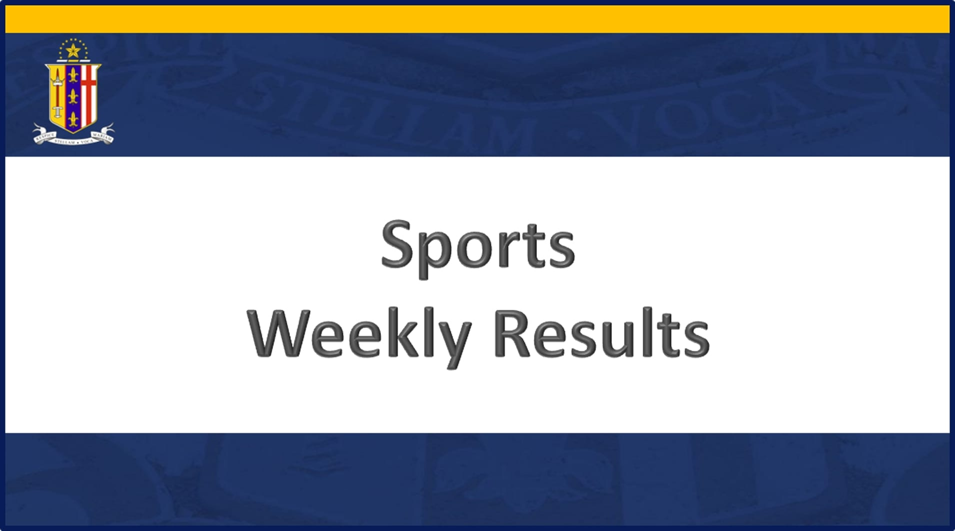 Weekly-Sports-Results