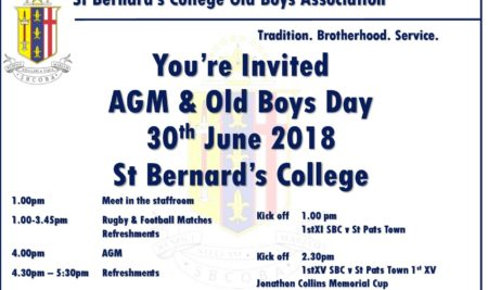 Old Boys Day – 30 June 2018