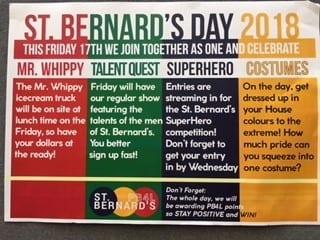 St Bernard's Day – Tomorrow 17th August.