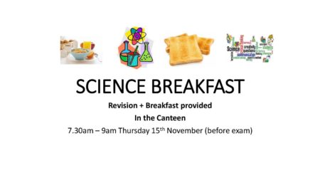 Science Revision + Breakfast