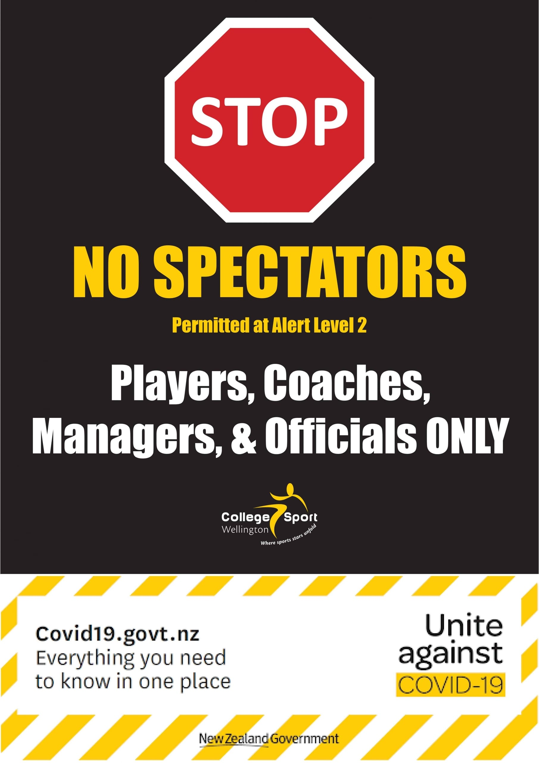 Covid-19 Level 2 Restrictions Poster