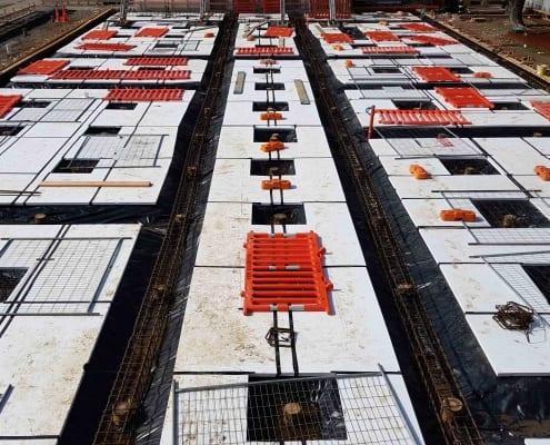 SBC C-D Block Stage 1 site preparation for concrete pour