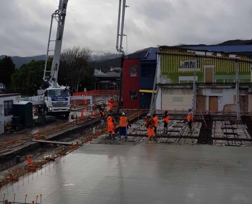 SBC C-D Block Slab concrete truck pouring 2 Sep 2020
