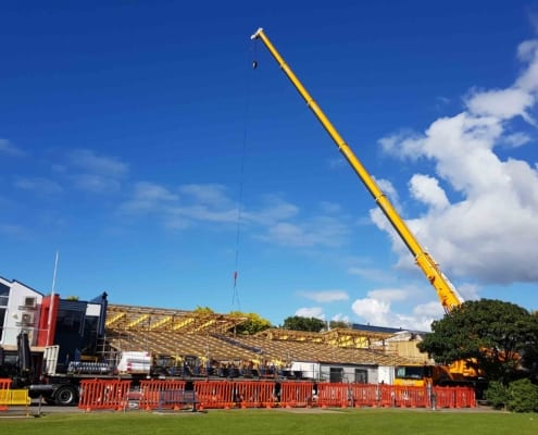 CD Block Crane lifting roof sheets 24 Nov 2020